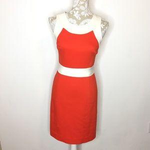 Milly New York orange cream racerback sheath dress